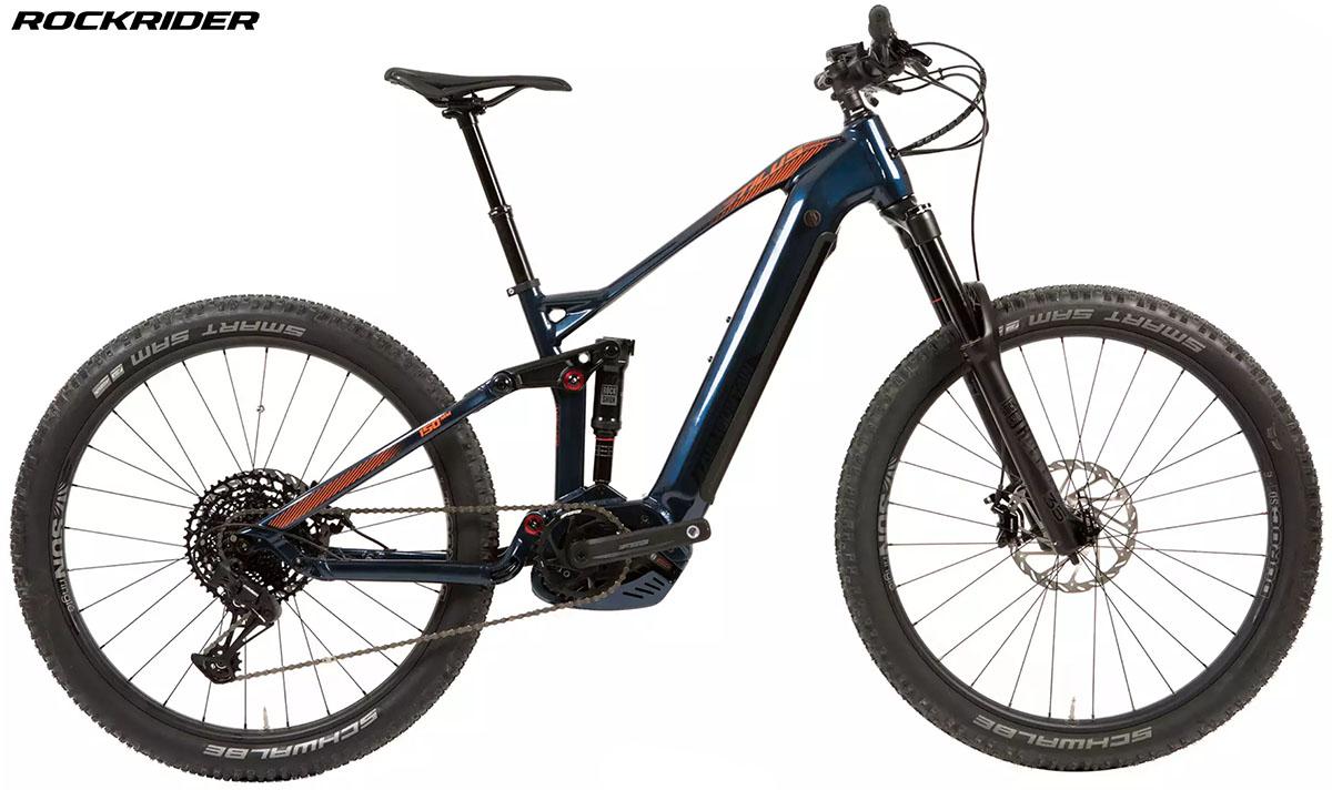 Una bici Le geometrie della eMTB Rockrider Stilus 2020