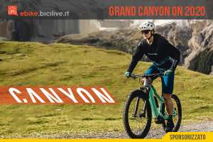 Canyon Grand Canyon:ON 2020, una eMTB front con batteria integrata