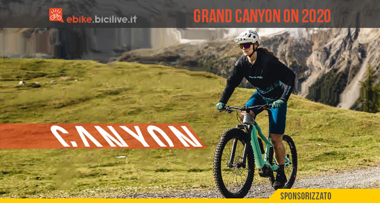 Canyon Grand Canyon:ON 2020, una eMTB front con batteria integrata