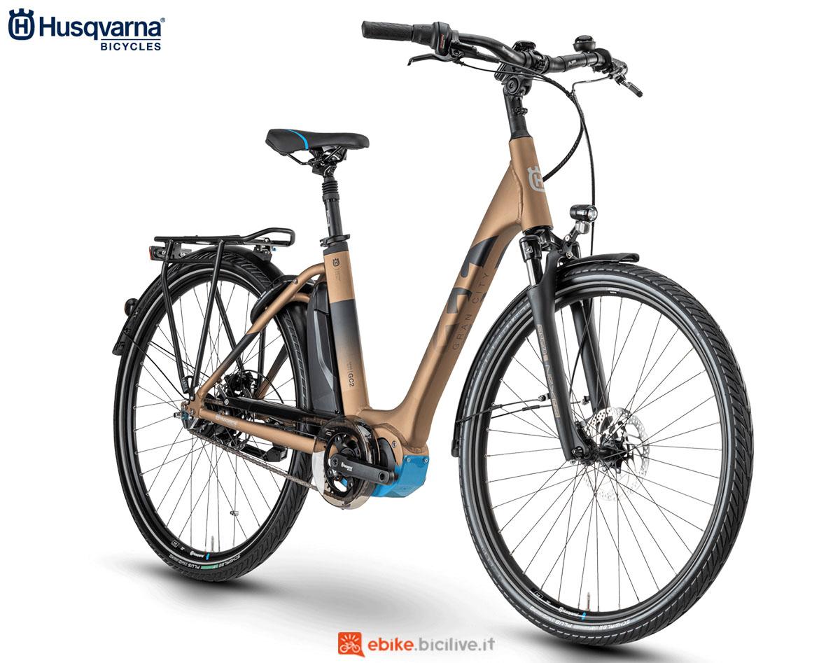 Una bici Husqvarna Gran City GC2 CB 2020