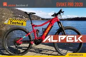 Il test della Alpek EVOKE PRO, una eMTB fatta in Italia con motore Bafang