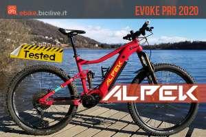 foto dell'ebike alpek evoke pro 2020