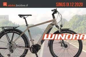 Winora Sinus iX12 2020: ebike da trekking motore Bosch