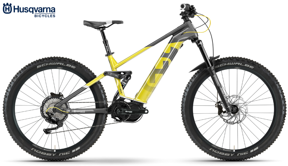 Una mountain bike elettrica Husqvarna MC4 dalla gamma 2020