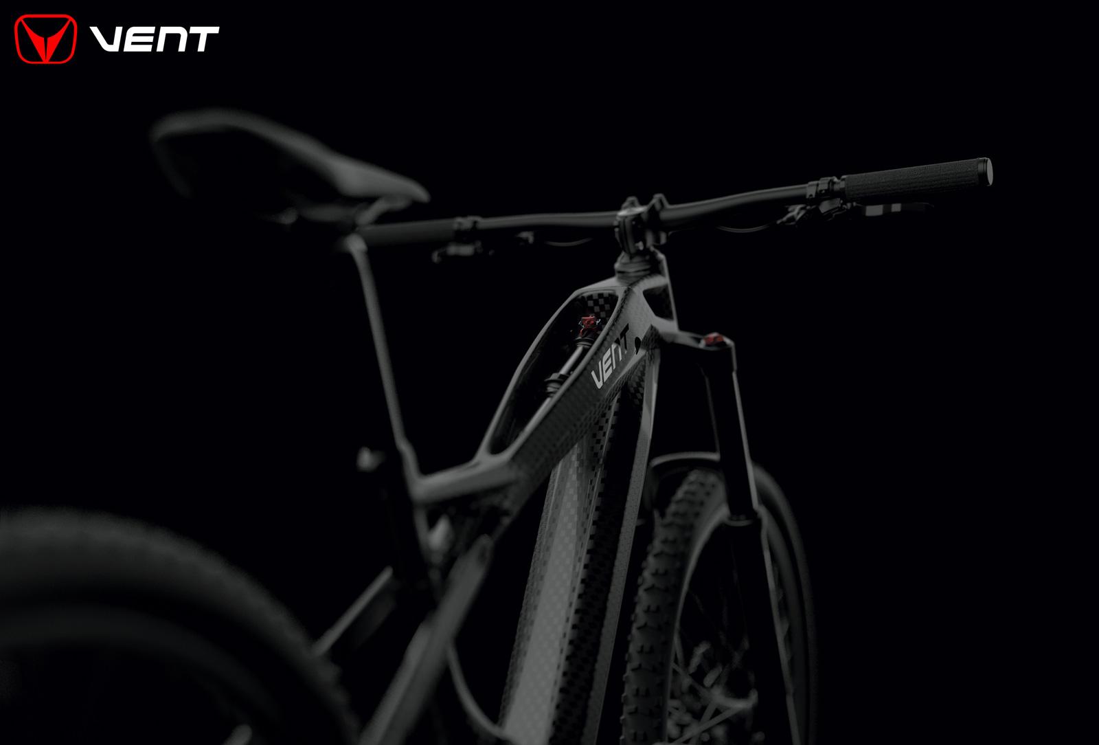 L'ammortizzatore della mountain bike elettrica biammortizzata Vent LDV500 2020