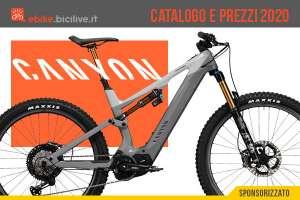 Le ebike ed eMTB 2020 di Canyon: catalogo e listino prezzi