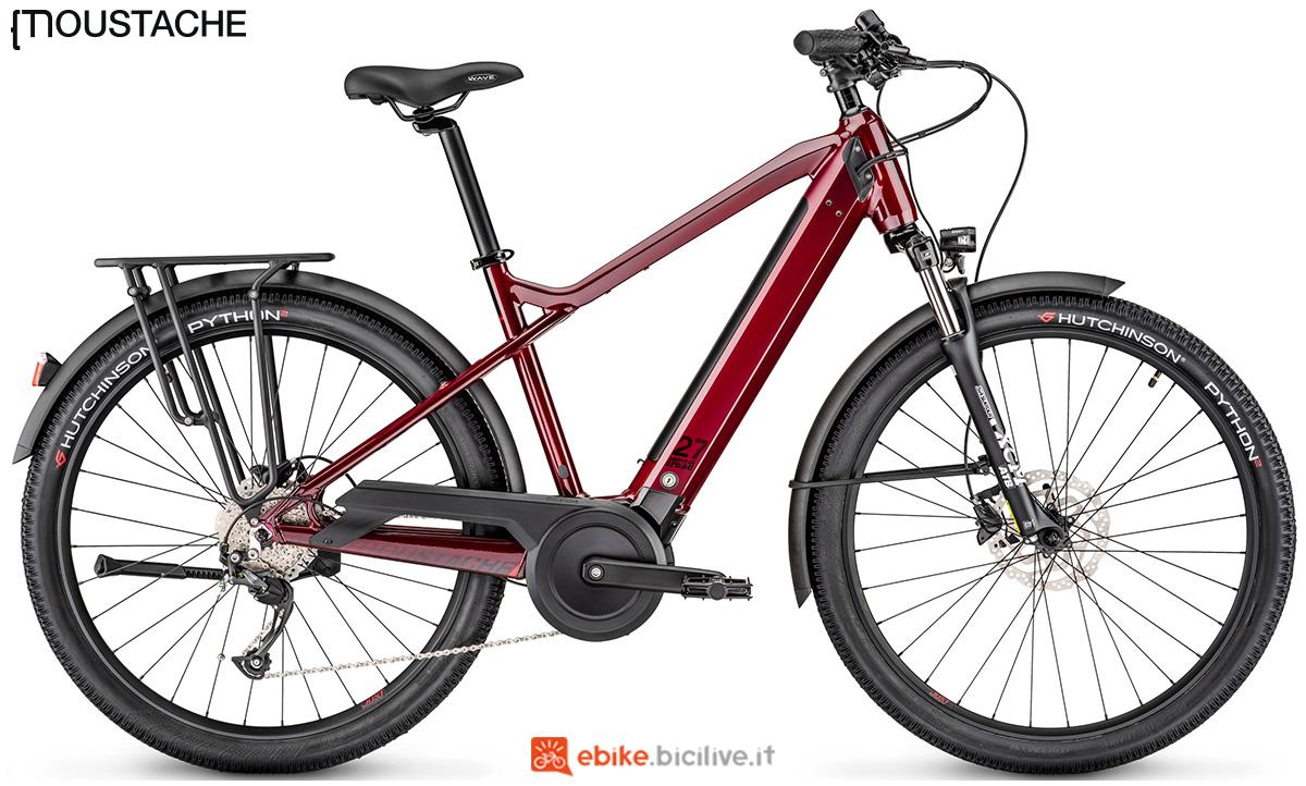 Una bici elettrica Moustache Samedi 27 Xroad 2