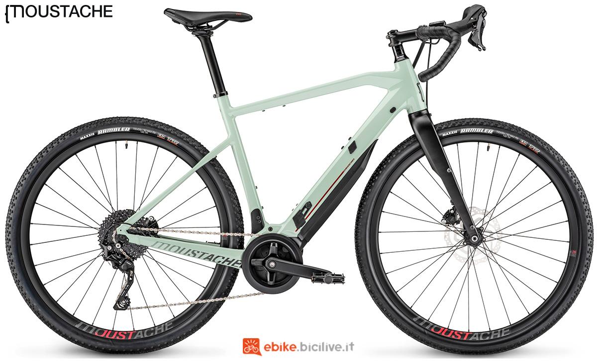 Una ebike gravel a pedalata assistita Moustache Dimanche 29.3 Gravel