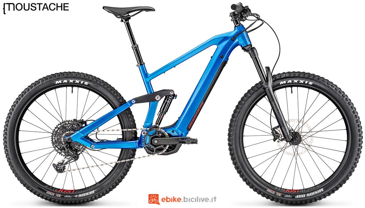 Una mountain bike a pedalata assistita full suspension Moustache Samedi 27 Trail 4