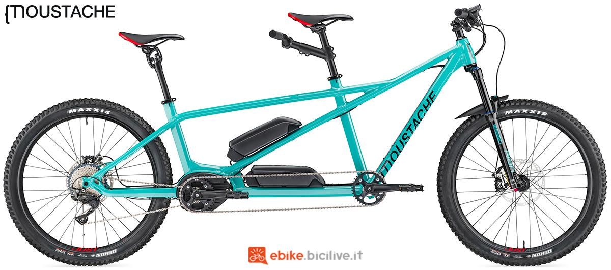 Un tandem elettrico a pedalata assistita Moustache Samedi 27 X2 VTT
