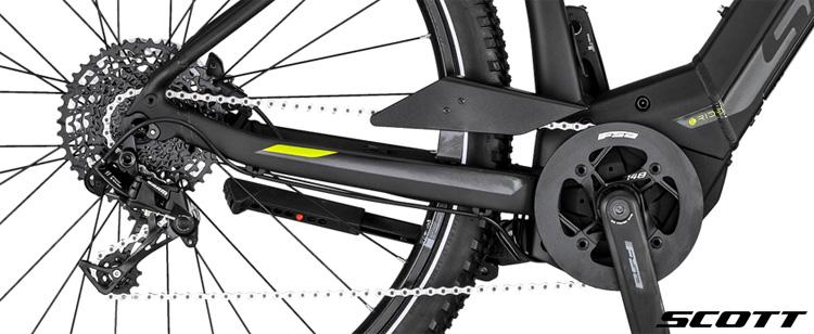 La trasmissione della e-bike Scott Sub Cross eRide 10 Men 2020