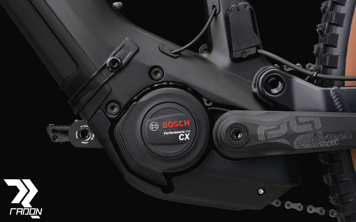 Il motore Bosch Performance CX Gen.4 equipaggiato sulla e-MTB Radon Render 10.0 HD 2020
