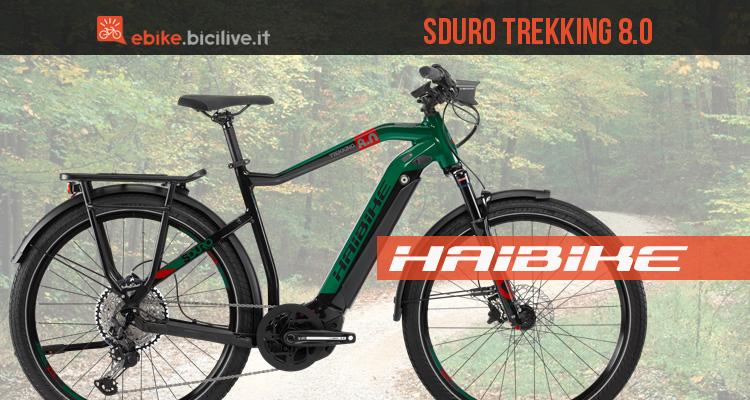 Haibike SDURO Trekking 8.0 2020: ebike motore Bosch Gen4