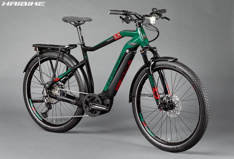 Una bici elettrica Haibike SDURO Trekking 8.0 2020