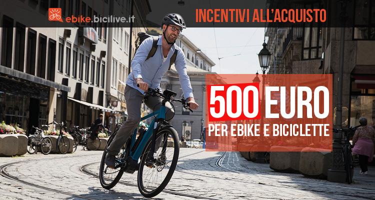 Incentivi da 500 euro per l'acquisto di ebike causa Coronavirus