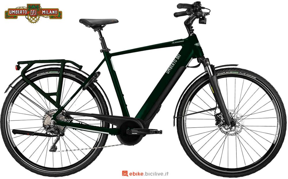 Una bici elettrica da trekking Umberto Dei Audere 2020