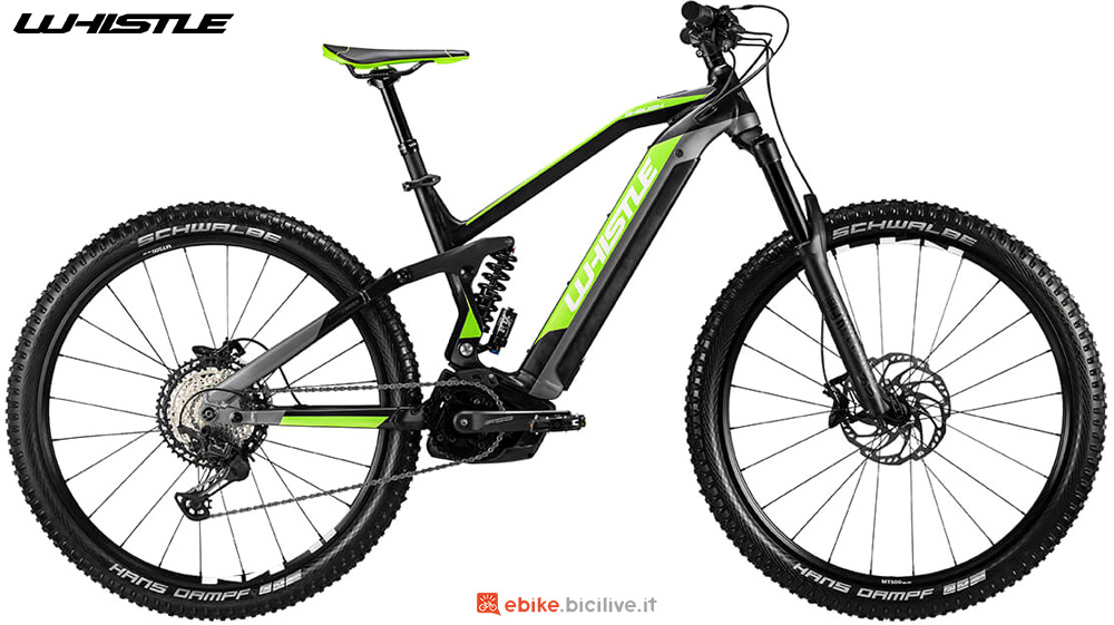 Una mtb a pedalata assistita full suspension Whistle B-RUSH ALL MOUNTAIN SLS