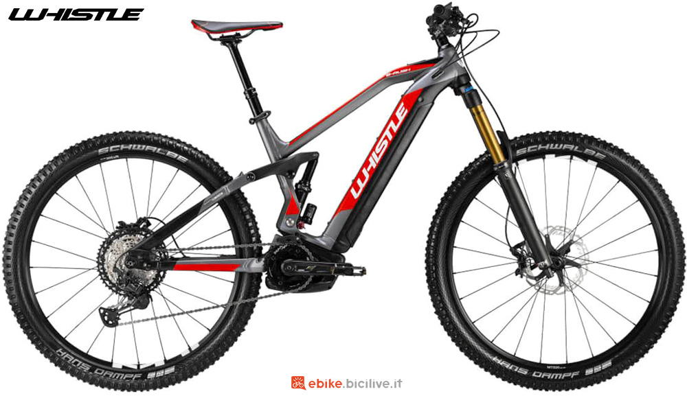 Una mountain bike elettrica a pedalata assistita Whistle B-RUSH ENDURO SLS 2020