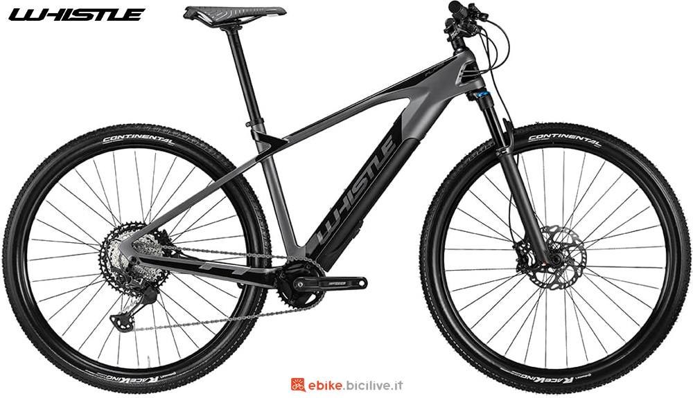 Una mtb elettrica hardtail Whistle FLAME 2020
