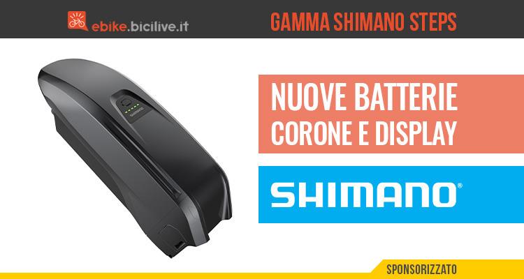 Novità in casa Shimano per le e-bike: batteria, display e corona