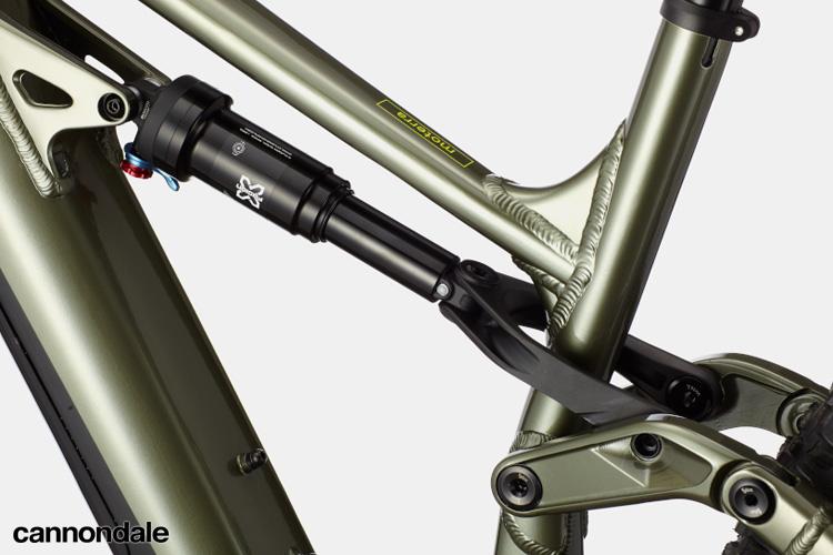 L'ammortizzatore in dotazione sulla Cannondale mtb a pedalata assistita Moterra Neo 5 Plus 2020