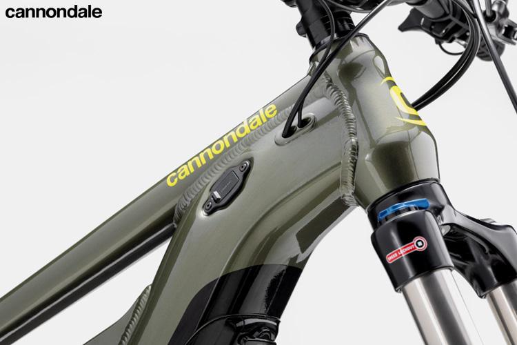 Un dettaglio del telaio della Cannondale Moterra Neo 5 Plus