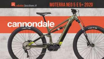Cannondale Moterra Neo 5 e 5 Plus: due nuove eMTB sotto i 4.000 euro