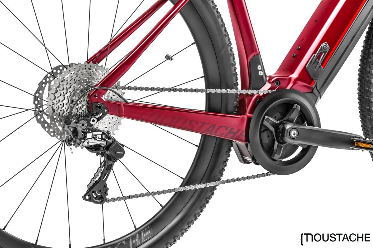 La trasmissione della gravel bike elettrica Moustache Dimanche 29.5
