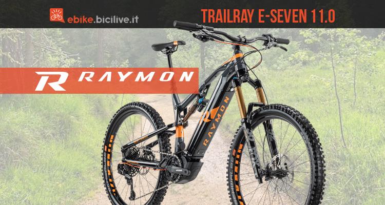 R Raymon Trailray E-Seven 11.0: eMTB da enduro con motore Yamaha