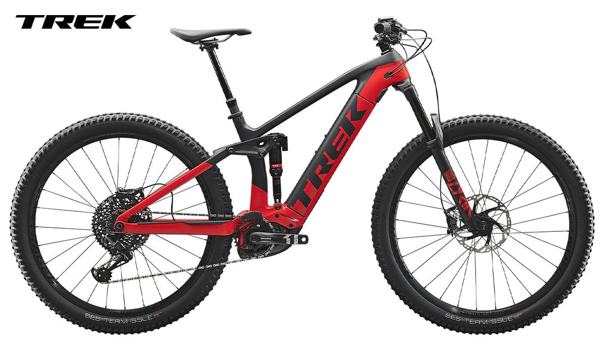Bicicletta Trek rail 2020 grigia di profilo