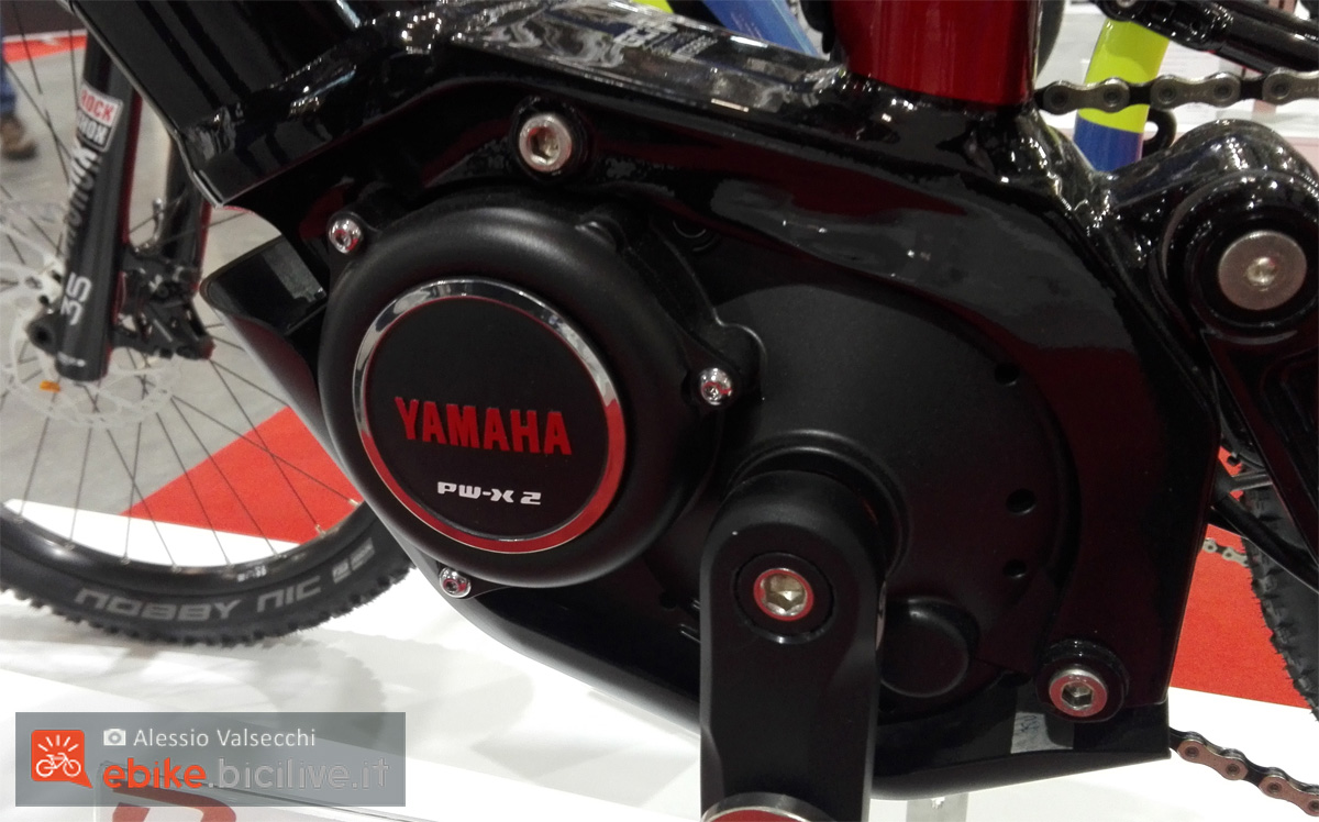 Il nuovo motore Yamaha PW-X2 2020 visto allo stand R Raymon a CosmoBike Show 2020