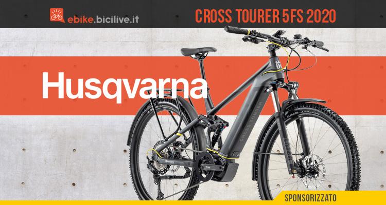 Husqvarna Cross Tourer 5FS 2020, e-trekking biammortizzata tuttofare