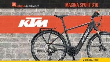 KTM Macina Sport 610: una bici e-trekking dalla massima versatilità