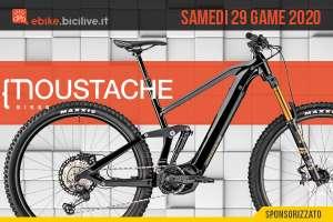 """Moustache Samedi 29 Game: una e-mtb enduro """"giocosa"""""""