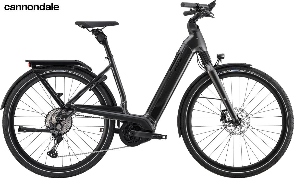 Modello di bici elettrica Cannondale Mavaro Neo 2020 color grafite