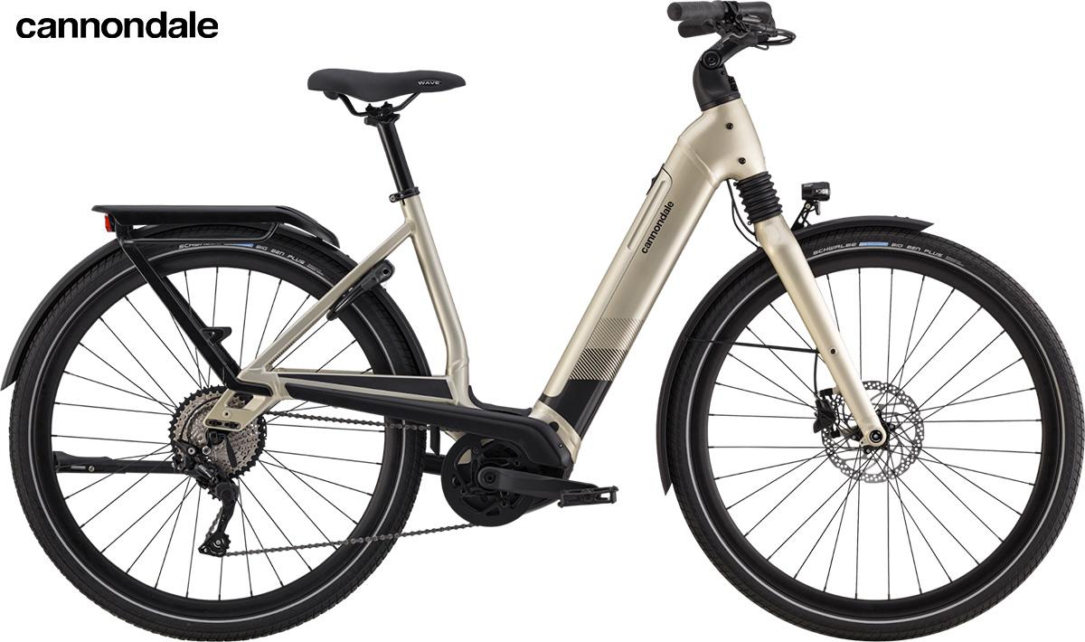 Modello e-bike Cannondale Mavaro Neo 2020 color champagne