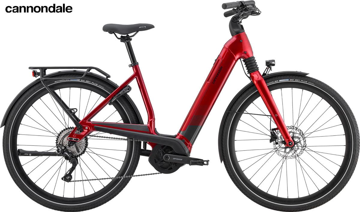 Modello di e-bike Cannondale Mavaro Neo 2020  color Candy Red