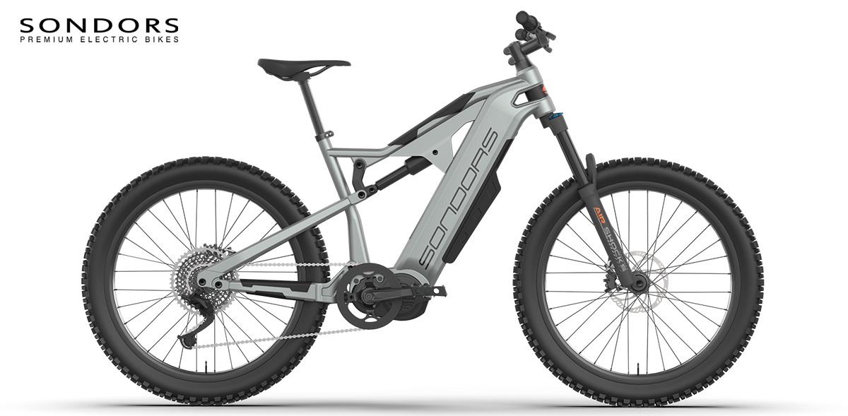 Una e-bike Sondors Rockstar vista lateralmente