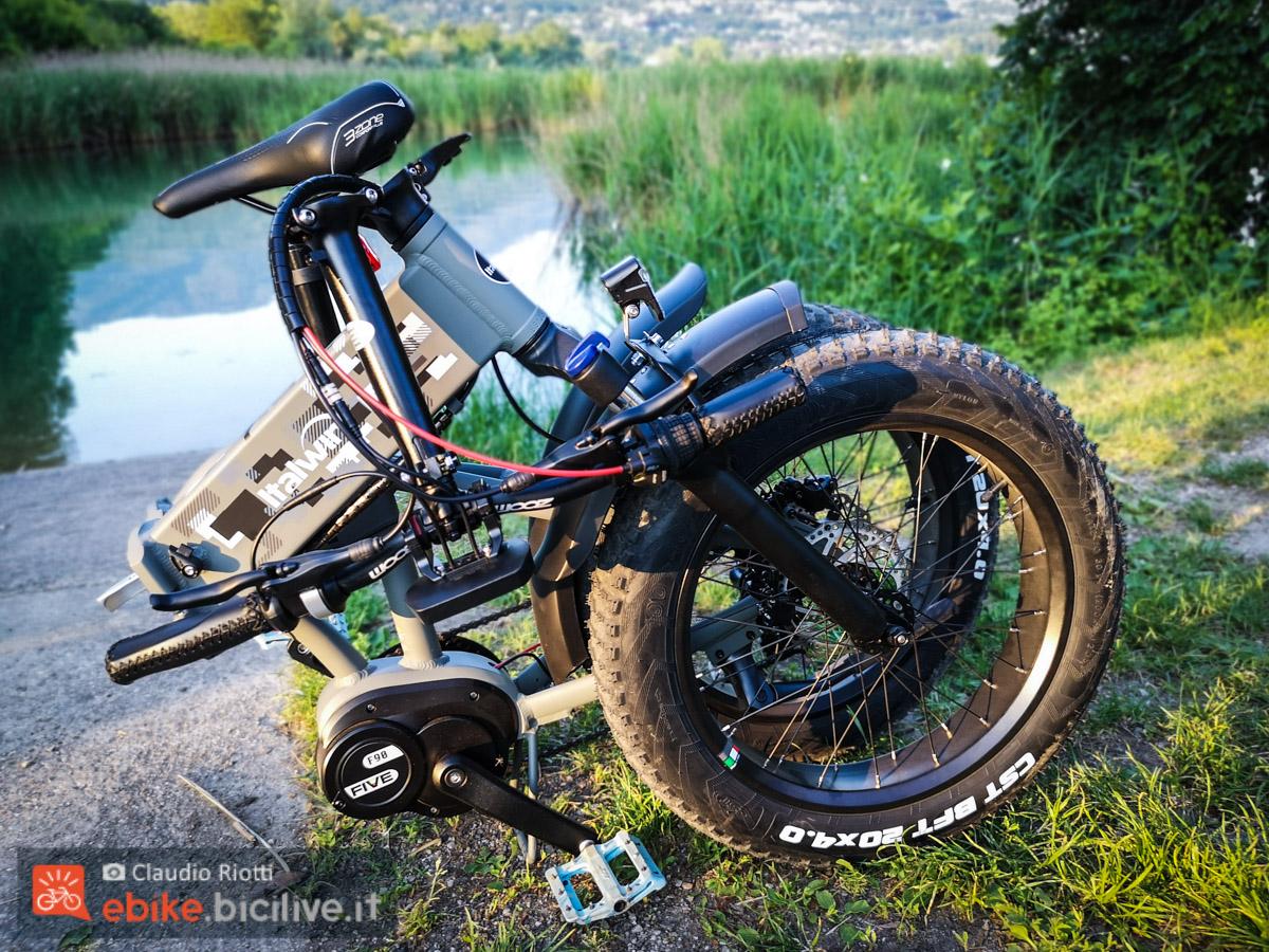 Foto della e-fat pieghevole Italwin K2 MAX piegata