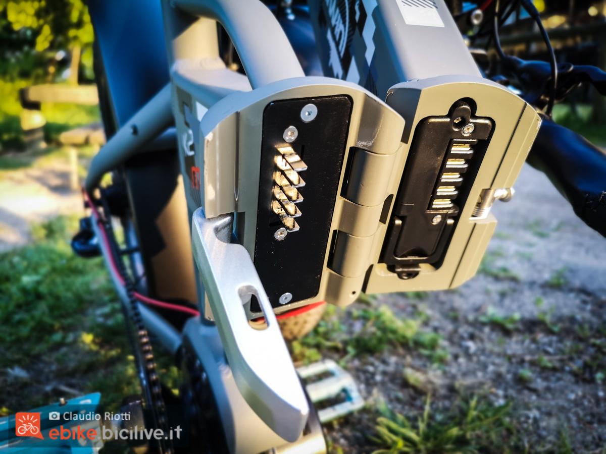 Foto della batteria della fat bike elettrica Italwin K2 MAX