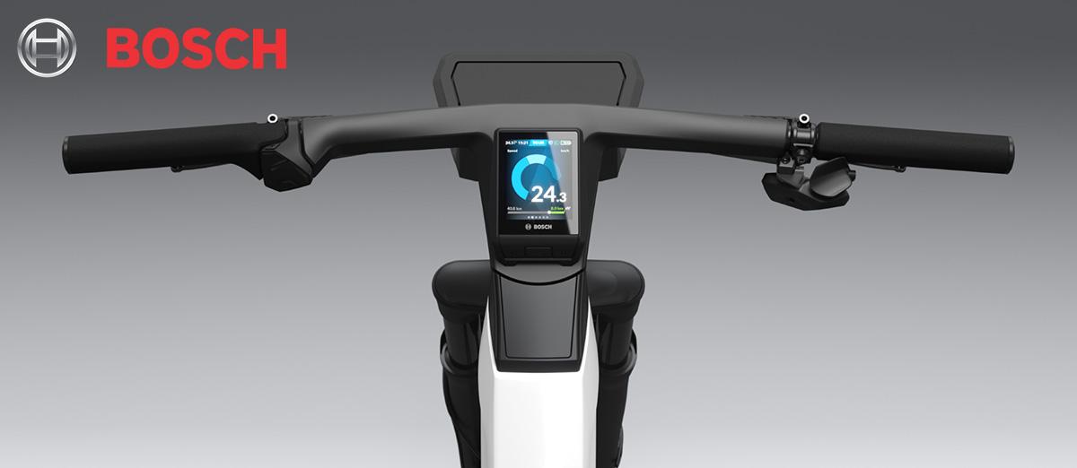Il manubrio della eBike Design Vision con il nuovo ciclo computer Nyon integrato