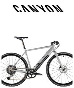 Bicicletta a pedalata assistita da città Canyon