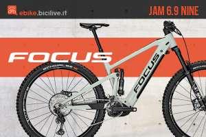 Nuova ebike mtb Focus Jam 6.9 Nine 2021