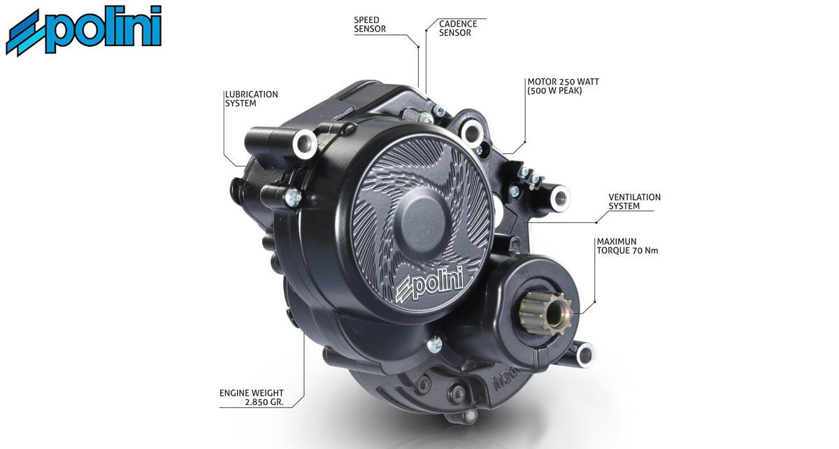 Il nuovo motore per bici elettriche Polini E-P3