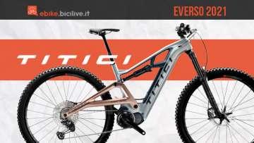 Titici Everso 2021: e-MTB in carbonio con motore Shimano EP8