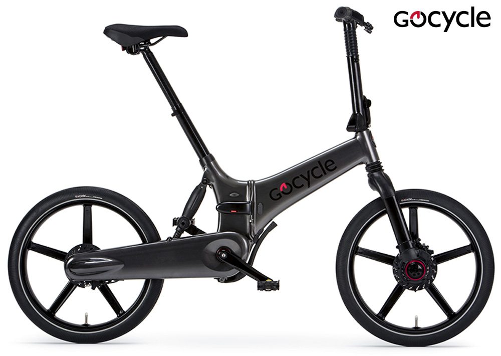 Una ebike pieghevole Gocycle GXi in colorazione grigia