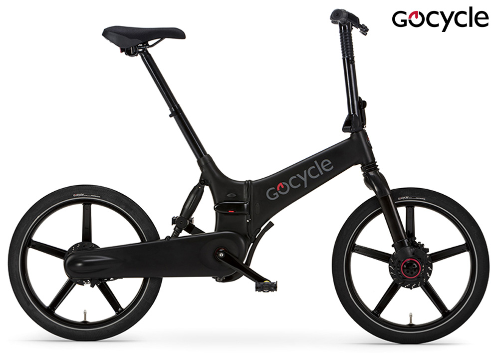 Una ebike pieghevole Gocycle GXi in colorazione nera