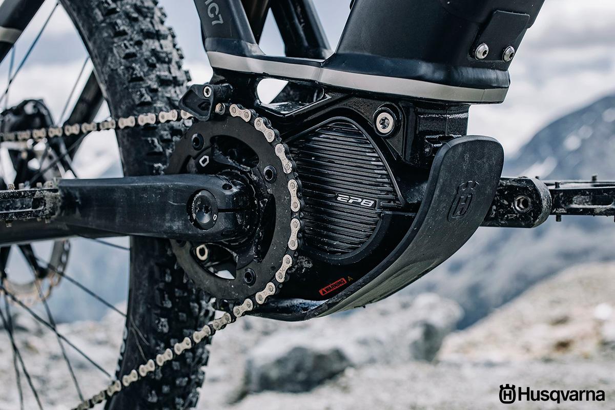 Il nuovo motore Shimano EP8 montato sui modelli ebike 2021 di Husqvarna