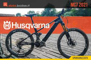 Nuova mountain bike elettrica Husqvarna MC7 2021