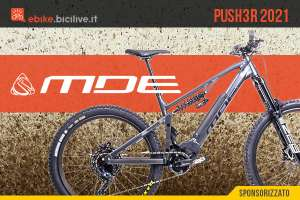 MDE PUSH3R 2021: la e-MTB da enduro personalizzabile con Polini MX